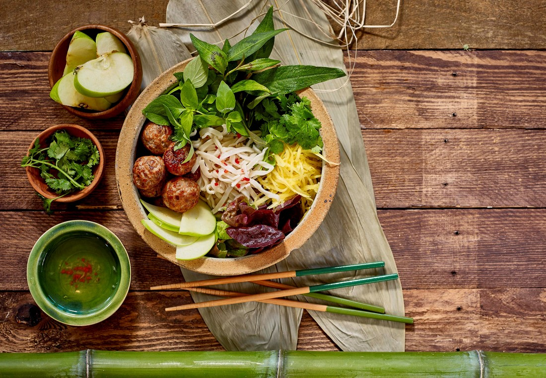 Vietnamese Pork and Noodle salad